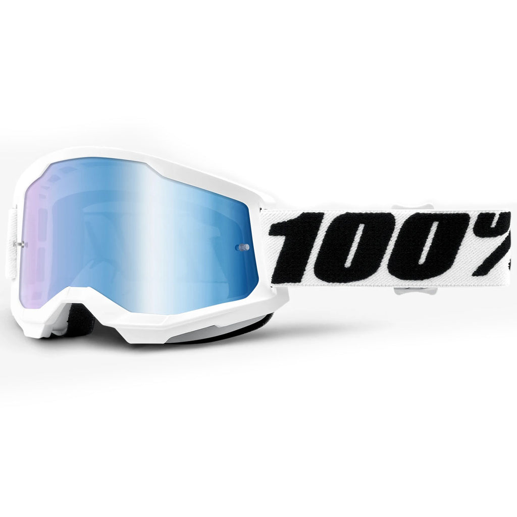 New 100% Strata 2 Everest Goggles (Mirror Blue Lens)