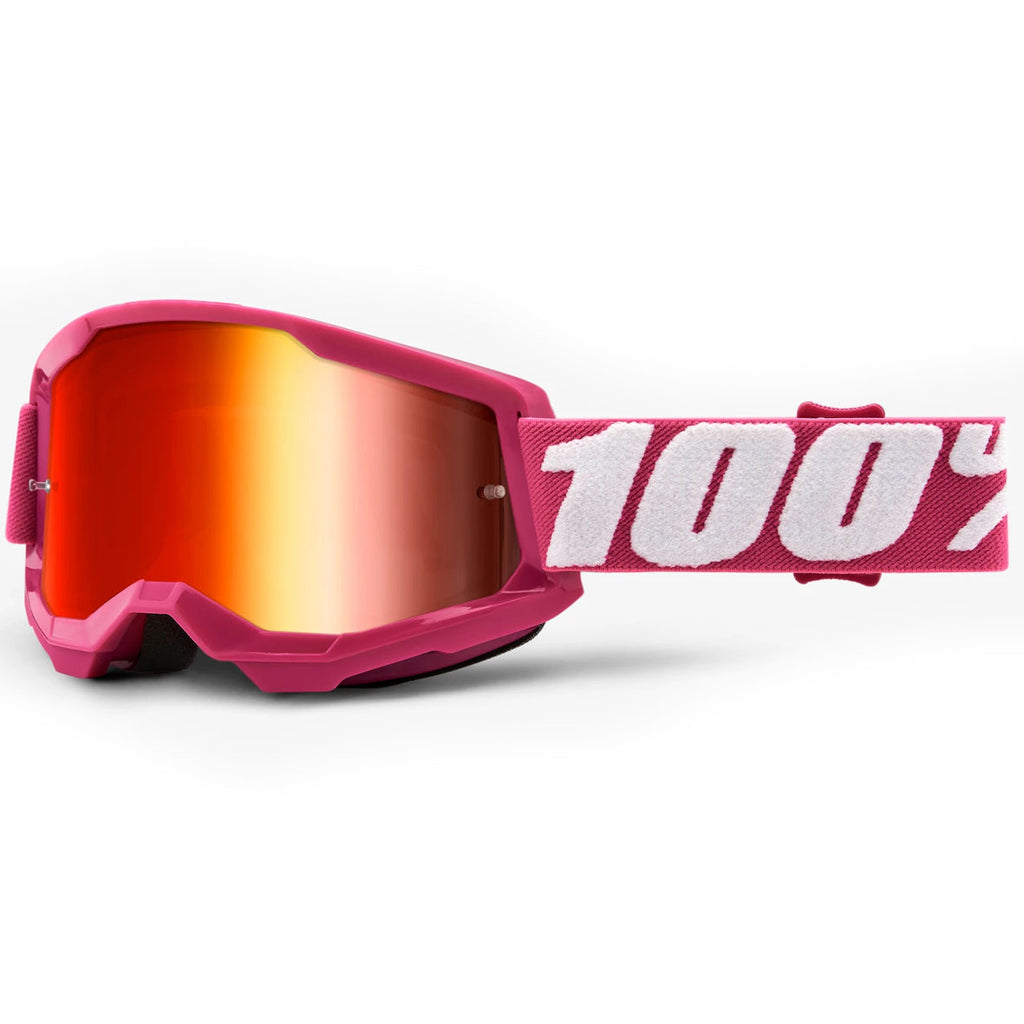 New 100% Strata 2 Fletcher Goggles (Mirror Red Lens)