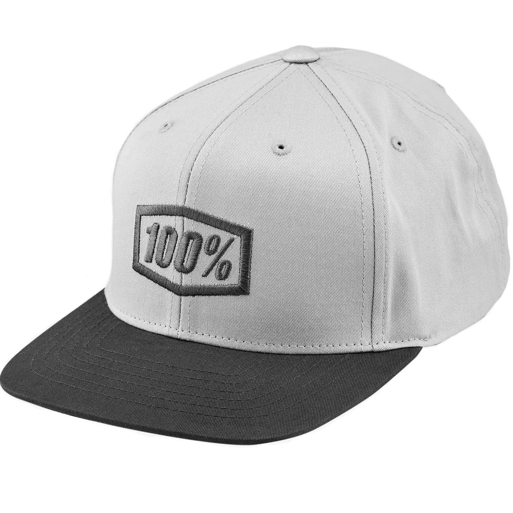 100% Youth Essential Snapback Cap (Charcoal)