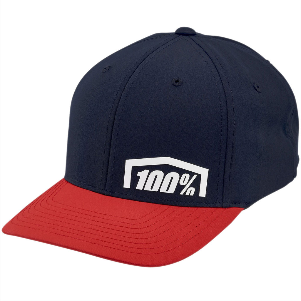 100% Revolt X-Fit Cap (Red)