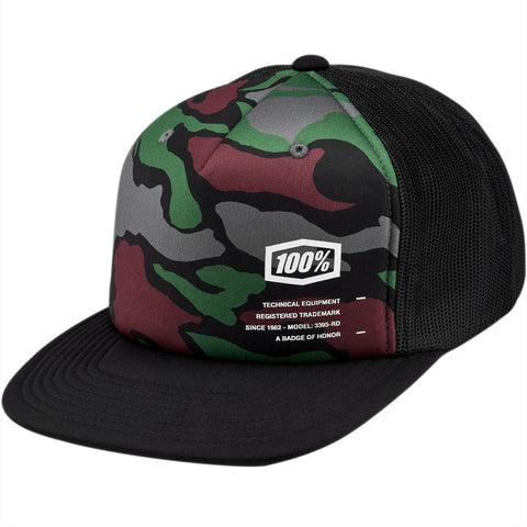 100% Trooper Trucker Cap (Camo)