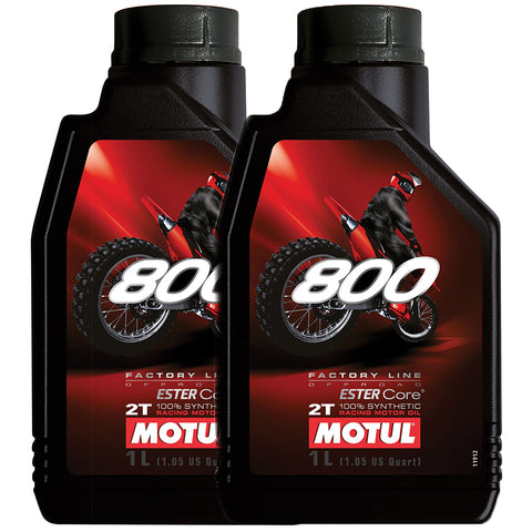 *Multi-Pack* 2 x Motul 800 2T Factory Line Off Road (1 Litre)