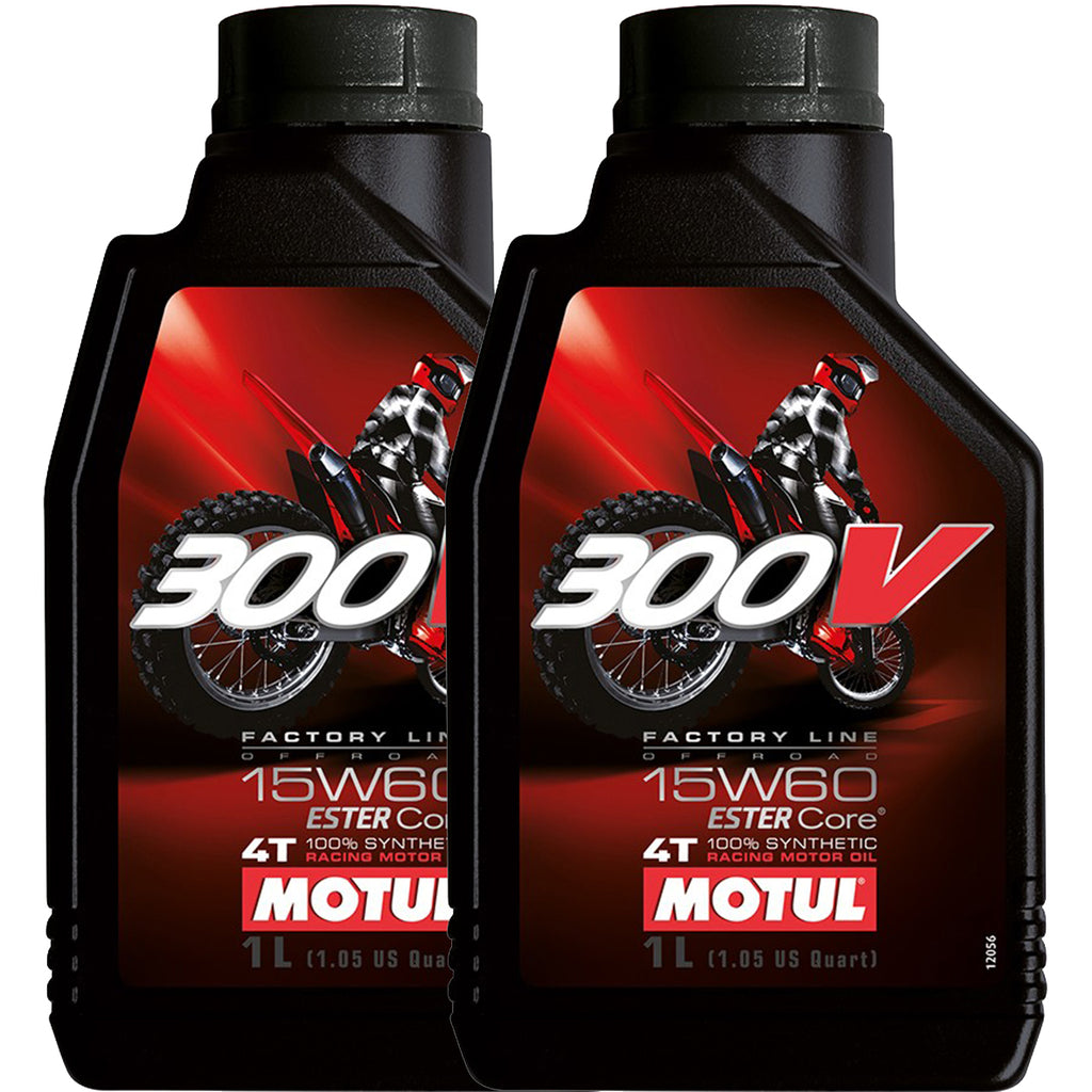 *Multi-Pack* 2 x Motul 300V 4T Off Road 15W60 (1 Litre)