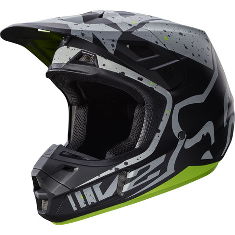 MX17 Fox V2 Nirv Helmet (Grey/Yellow)
