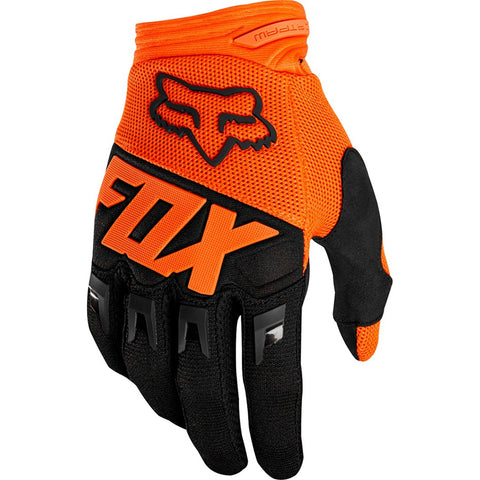 Fox Dirtpaw Race Gloves (Orange/Black)