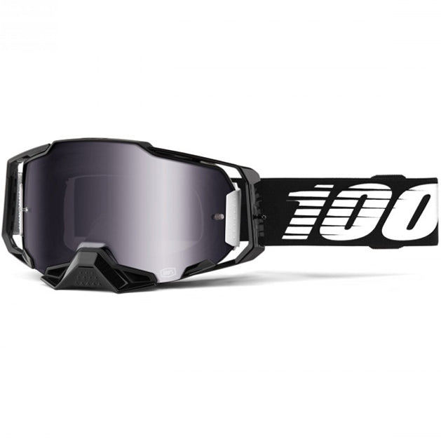 100% Armega Goggles Black (Silver Flash Mirror Lens)