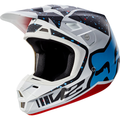 MX17 Fox V2 Nirv Helmet (Matte Red/White)