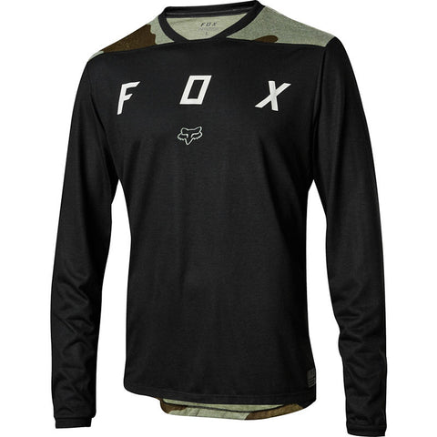 MTB Fox Indicator LS Jersey (Black/Camo)