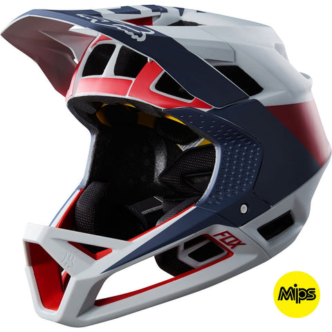 Fox MTB Proframe Drafter Full Face Helmet with MIPS Tech (Cloud Grey)