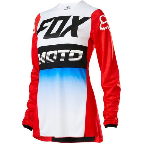 MX20 Fox Women's 180 Fyce Jersey (Blue/Red)