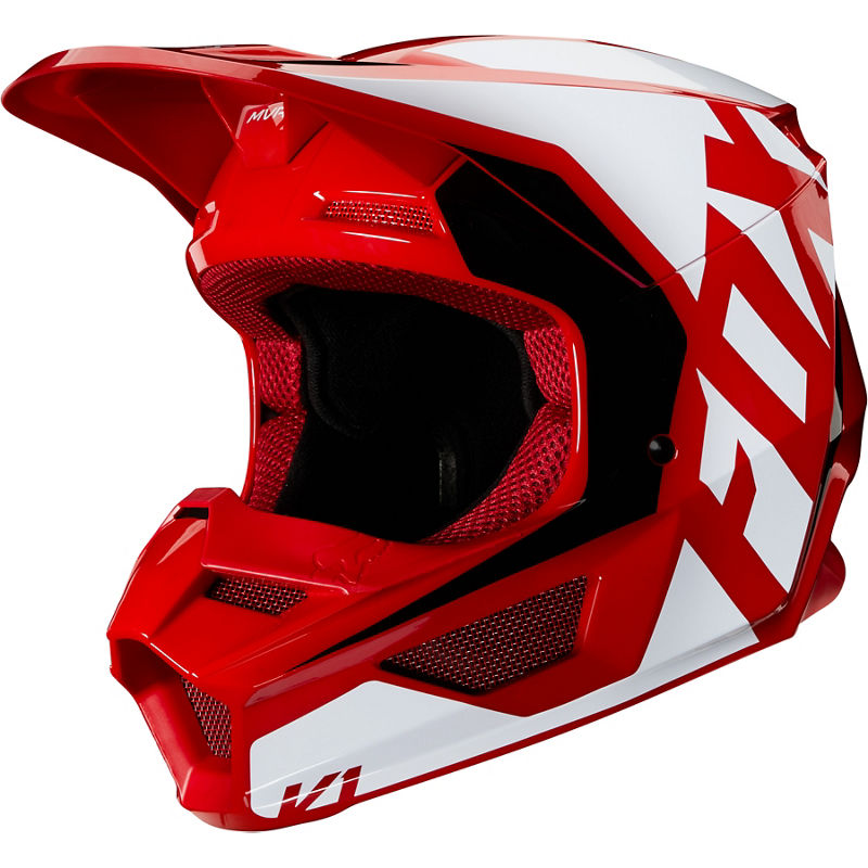 MX20 Fox Youth V1 Prix Helmet (Flame Red)