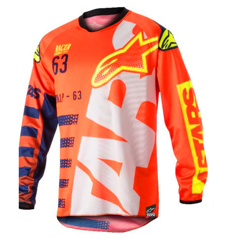 Alpinestars Racer Braap 18 Jersey (Lumo Orange/Blue/White)