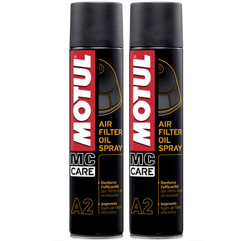 *Multi-Pack* 2 x Motul Air Filter Oil Spray (400ml)