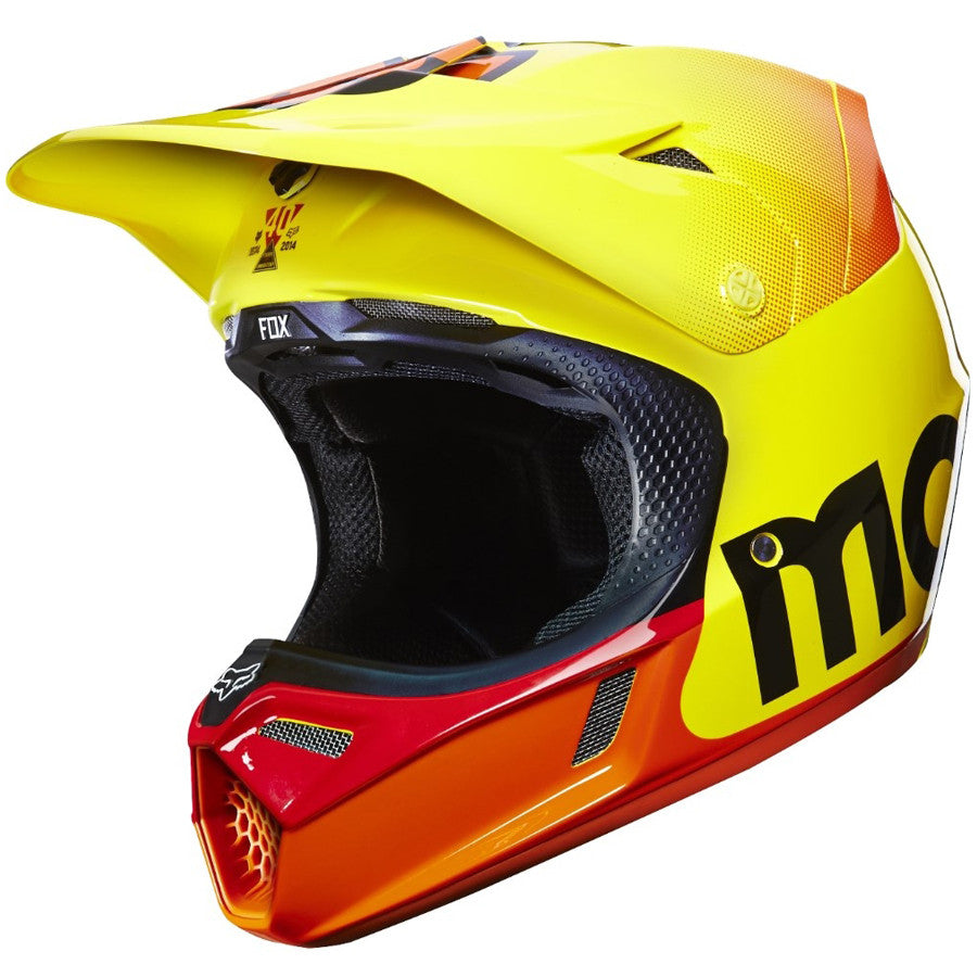MX15 Fox V3 40th Anniversary Limited Edition Helmet (Yellow)