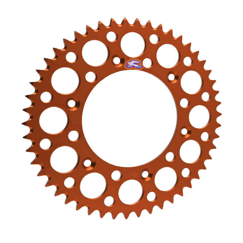 441U-428-50GPOR Renthal Ultralight 50 Tooth 200MM Rear Sprocket - KTM/Husq (Orange)