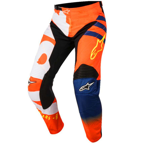 Alpinestars Racer Braap 18 Pants (Lumo Orange/Blue/White)