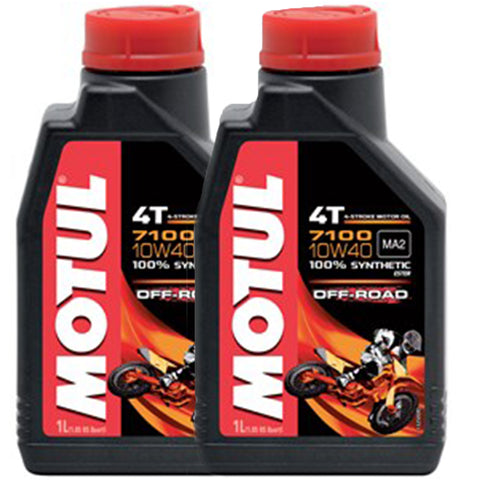 *Multi-Pack* 2 x Motul 7100 4T 10W40 Off-Road Oil (1 Litre)