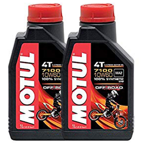 *Multi-Pack* 2 x Motul 7100 4T 10W60 Off-Road Oil (1 Litre)