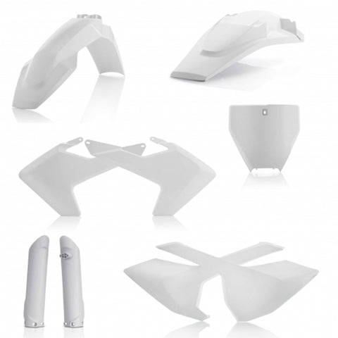 Acerbis Full Plastic Kit - Husqvarna 16-18 TC/FC (0021831 - White)
