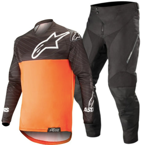 MX20 Alpinestars Venture R Enduro Kit Combo (Black/Orange Flou)