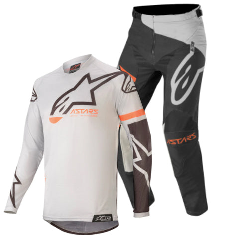 MX20 Alpinestars Youth Racer Compass Kit Combo (Light Grey Black)