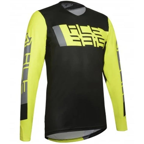 MX21 Acerbis MX Outrun Jersey (Black/Fluo Yellow)