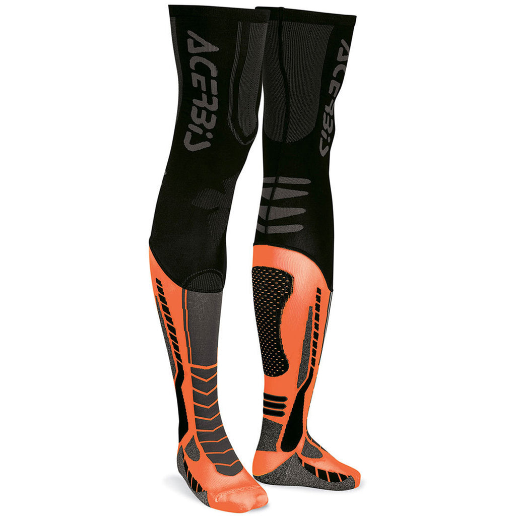 Acerbis X-Leg Pro Long Socks (Orange/Black)