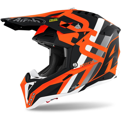 Airoh Aviator 3 Rainbow Helmet (Orange Matte)