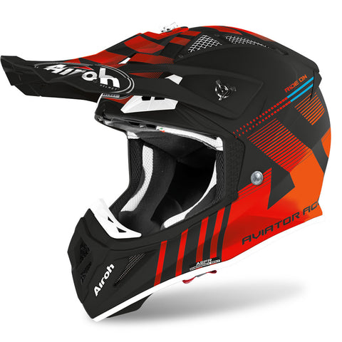 Airoh Aviator Ace Nemesi Helmet (Orange Matt)