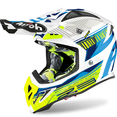 Airoh Aviator 2.3 Novak Helmet (Chrome Blue)