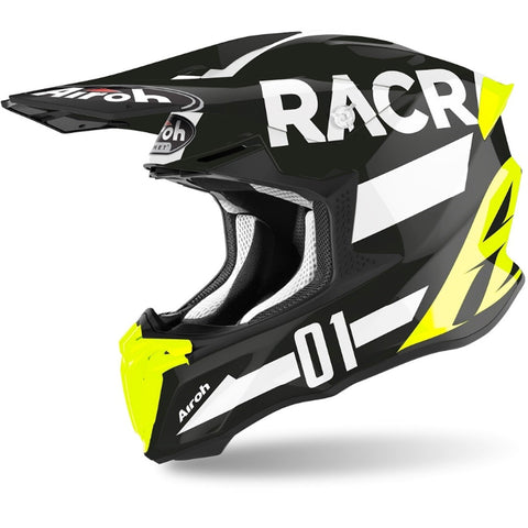Airoh Twist 2.0 Racr Helmet (Gloss Black/White)