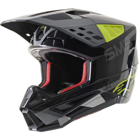 MX21 Alpinestars S-M5 Rover Helmet (Anthracite/Yellow Flou/Grey Camo Gloss)