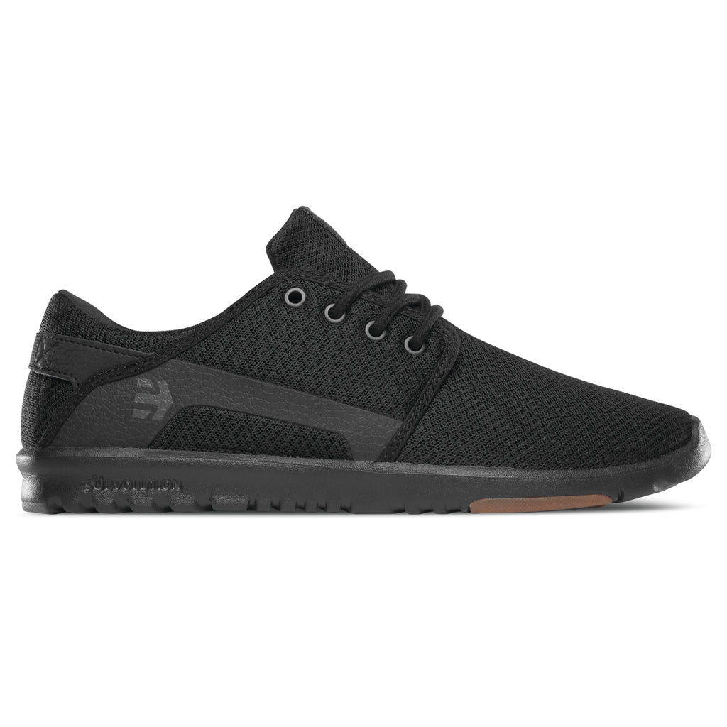 Etnies Scout Casual Shoes (Black/Black/Gum)