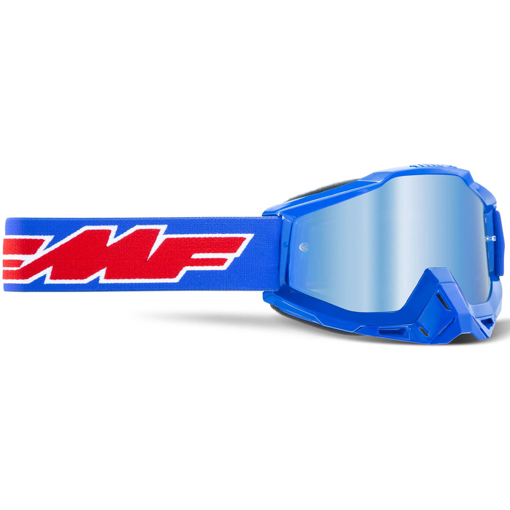FMF Powerbomb Rocket Goggle - Blue (Mirror Blue Lens)