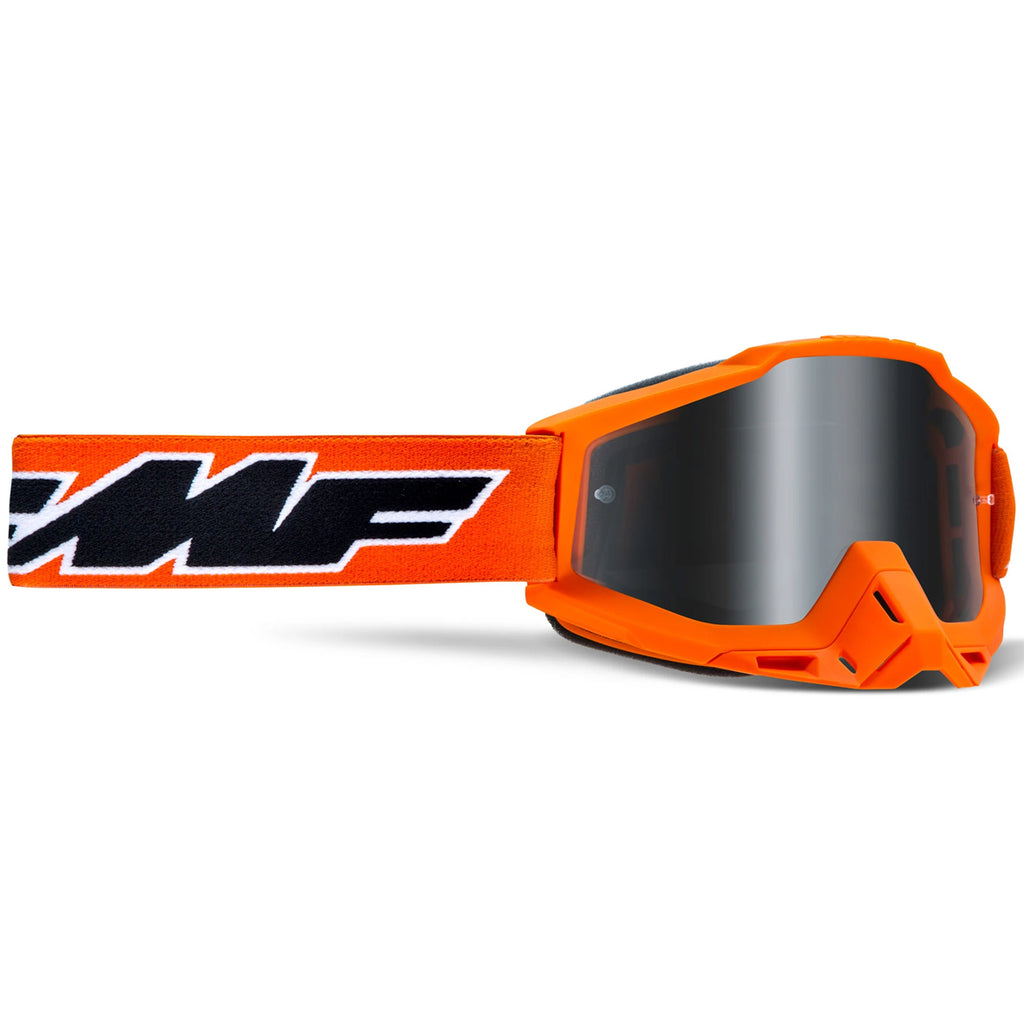 FMF Powerbomb Rocket Goggle - Orange (Mirror Silver Lens)