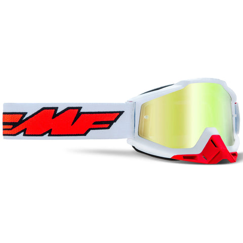 FMF Powerbomb Rocket Goggle - White (True Gold Lens)