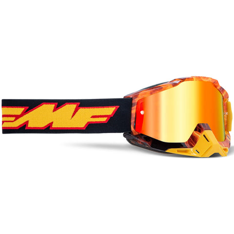 FMF Powerbomb Spark Goggle - Red (Mirror Red Lens)
