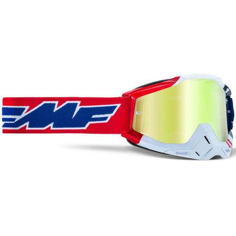 FMF Powerbomb US of A Goggle (True Gold Lens)