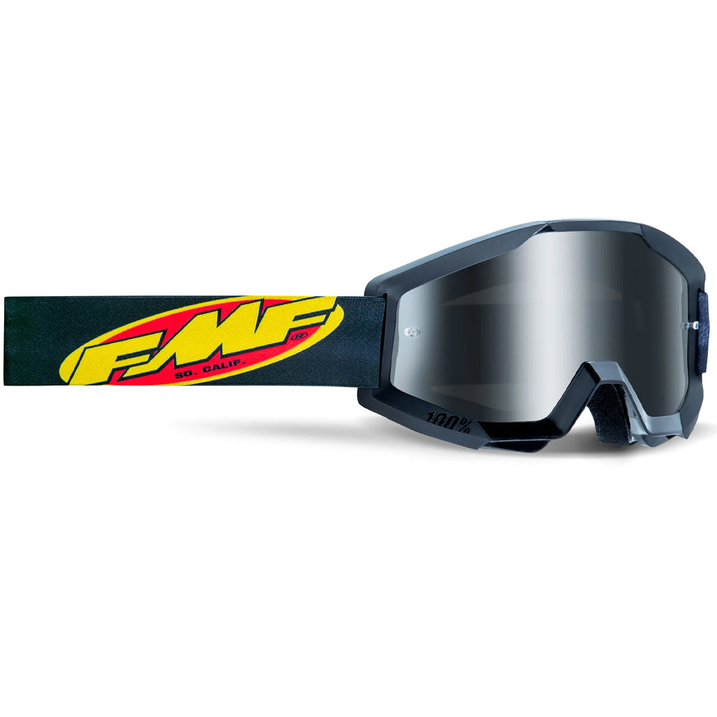 FMF Powercore Youth Goggle - Black (Mirror Silver Lens)