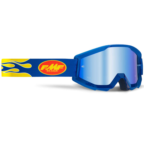 FMF Powercore Flame Goggle - Navy (Mirror Blue Lens)