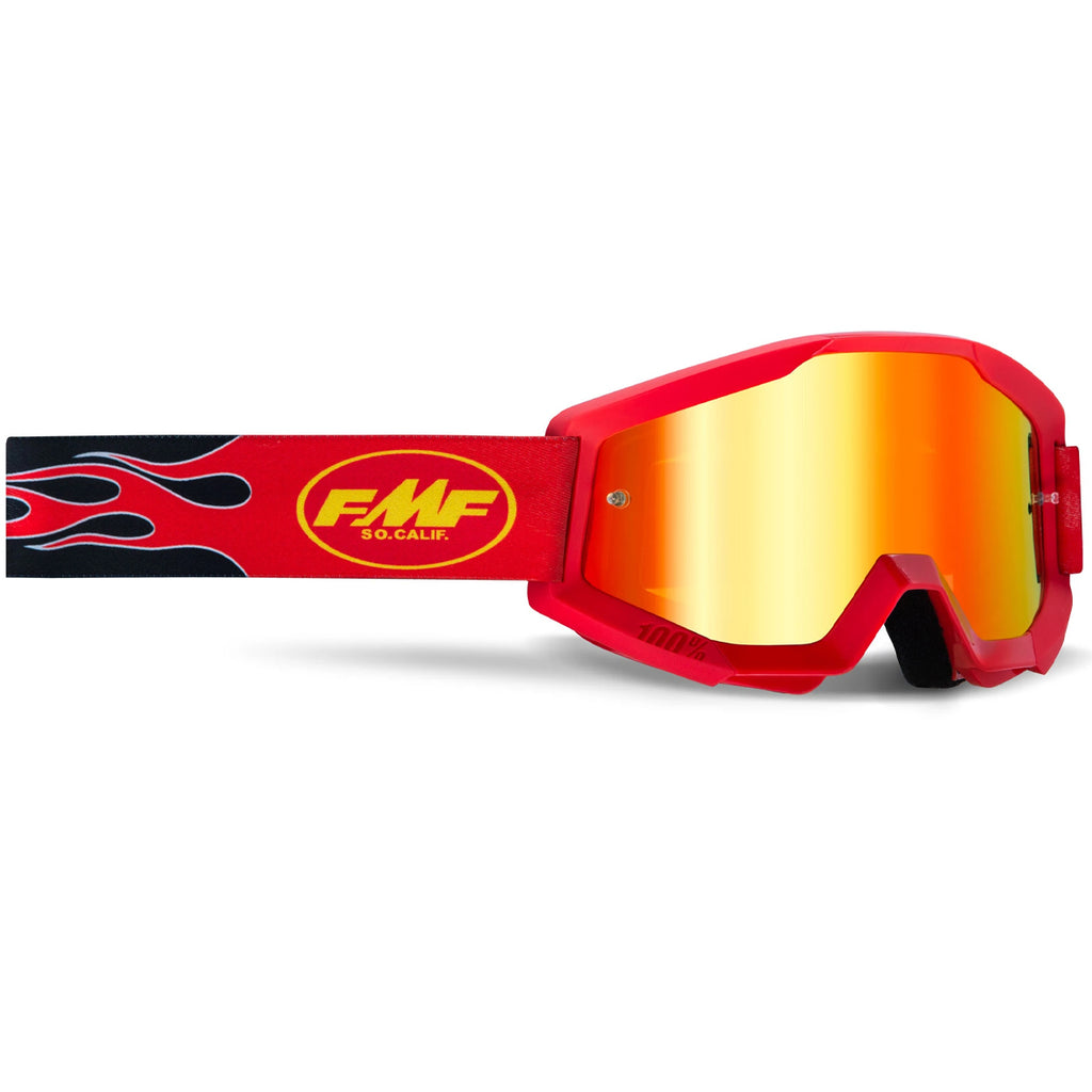 FMF Powercore Flame Goggle - Red (Mirror Red Lens)