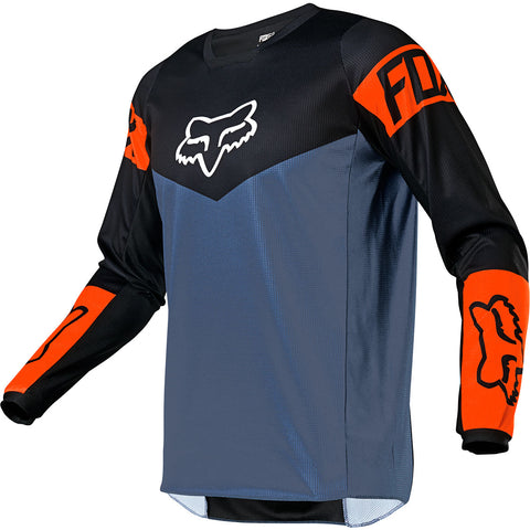 MX21 Fox 180 Revn Jersey (Blue Steel)