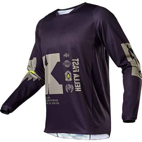 MX21 Fox 180 Illmatik Jersey (Dark Purple/Sand)