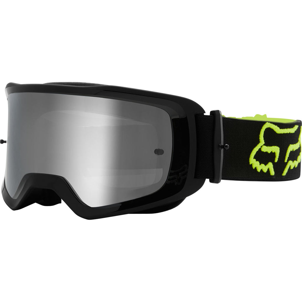 MX21 Fox Main II Stray Goggles - Black/Fluo Yellow (Clear Lexan Lens)