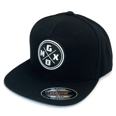GO-MX Original Fitted Flexfit Cap (Black/White Moulded Logo)