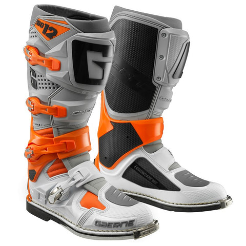 Gaerne SG12 Boots (Orange/Grey/White)