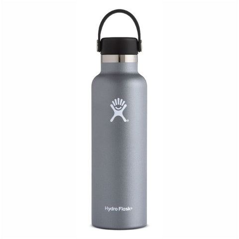 Hydro Flask Standard Mouth with Flex Cap - 21oz/621ml (Graphite/Light Grey)