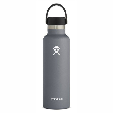 Hydro Flask Standard Mouth with Flex Cap - 21oz/621ml (Stone/Dark Grey)