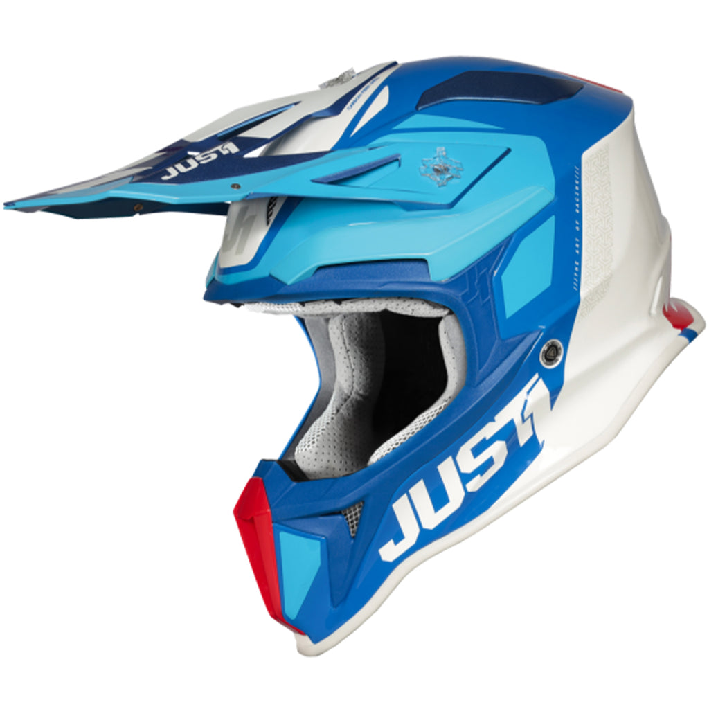 JUST1 J18 Pulsar Helmet (Blue/Red/White)
