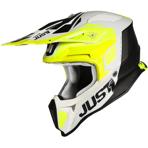 JUST 1 J18 Pulsar Matte Helmet (Fluo Yellow/White/Black)